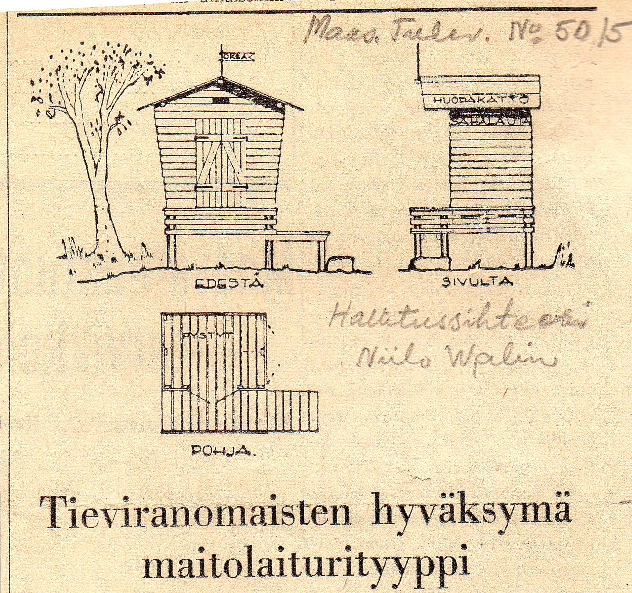 Maitolaiturin uudet tuulet 1951
